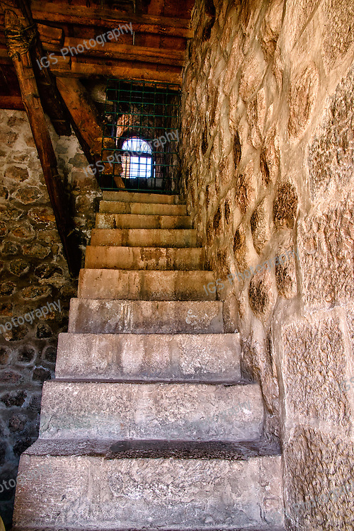 Stone Staircase leading to the large Bell atop the Church of the Society of Jesus