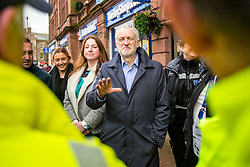 © Licensed to London News Pictures. 15/03/2018. Carlisle UK. Labour Leader Jeremy Corbyn is visiting Carlisle in Cumbria today to meet street cleaners & members of the public. Photo credit: Andrew McCaren/LNP