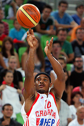 Dominica Dontay Draper of Croatia at friendly match between Serbia and Croatia for Adecco Cup 2011 as part of exhibition games before European Championship Lithuania on August 9, 2011, in SRC Stozice, Ljubljana, Slovenia. (Photo by Urban Urbanc / Sportida)