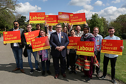 © Licensed to London News Pictures. 22/04/2017. Dewsbury, UK. Labour deputy leader Tom Watson on the campaign trail in Dewsbury, West Yorkshire, to support sitting MP Paula Sherriff. Prime minister Theresa May fired the starting gun on an early general election this week. The snap election will be held on June 8th. Photo credit : Ian Hinchliffe/LNP