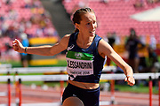 Sache Alessandrini (FRA) competes in 100 Metres Hurdles during the IAAF World U20 Championships 2018 at Tampere in Finland, Day 6, on July 15, 2018 - Photo Julien Crosnier / KMSP / ProSportsImages / DPPI