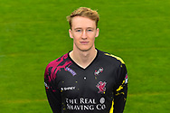 Head shot.  George Bartlett wearing the Somerset Vitality Blast kit at the media day at Somerset County Cricket Club at the Cooper Associates County Ground, Taunton, United Kingdom on 11 April 2018. Picture by Graham Hunt.