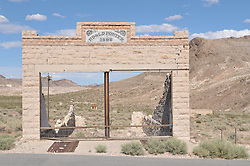 The Rhyolite Ghost Town, Nevada