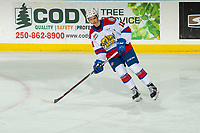 KELOWNA, BC - NOVEMBER 26: Dylan Guenther #11 of the Edmonton Oil Kings warms up against the Kelowna Rockets  at Prospera Place on November 26, 2019 in Kelowna, Canada. (Photo by Marissa Baecker/Shoot the Breeze)