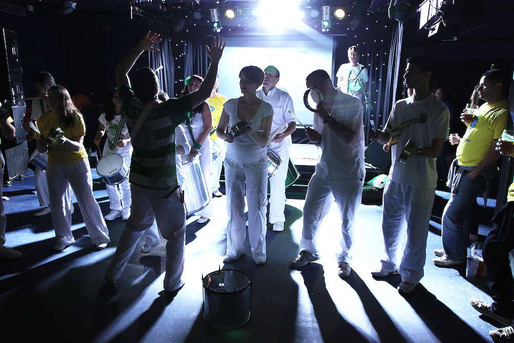 World Cup 2010<br /> Brazil v Ivory Coast at Jongleurs, Camden