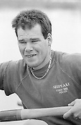 Staines, GREAT BRITAIN,   <br /> Simon BERRISFORD.<br /> British Rowing Men's Heavy Weight Assessment. Thorpe Park. Sunday 27.02.1987 Tom CADOUX-HUDSON,<br /> <br /> [Mandatory Credit, Peter Spurrier / Intersport-images] 1987 GBR Men's H/Weight 3rd Assessment Thorpe Park, Surrey. UK