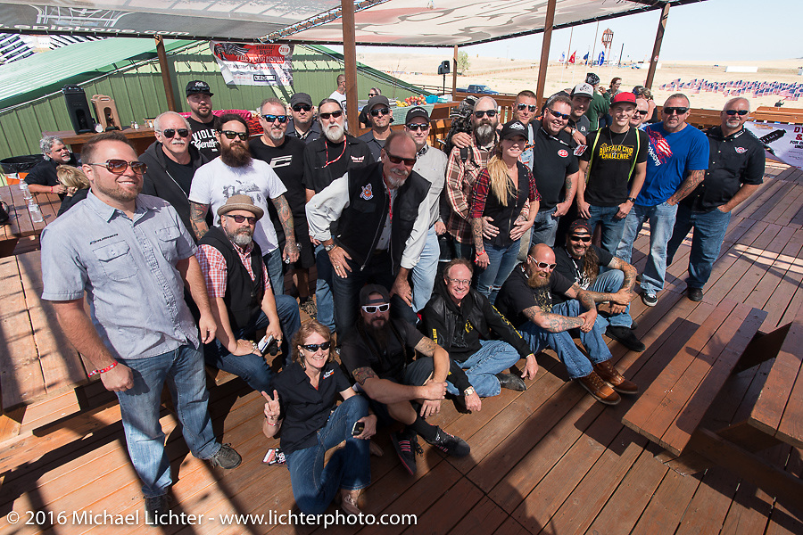 The Builder Breakfast for people to meet with the participants of Michael Lichter's Motorcycles as Art Exhibition at the Buffalo Chip Crossroads during the annual Sturgis Black Hills Motorcycle Rally.  SD, USA.  August 7, 2016.  Photography ©2016 Michael Lichter.