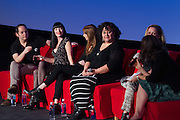 Tom Donahue, Director/Producer, Creative Chaos, Allison Rapson, We are the XX, Kassidy Brown, We are the XX, Marjan Safinia, President, International Documentary Association, Abigail Disney, CEO and President, Fork Films and Allison Yarrow, Author and Journalist