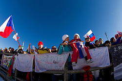 Supporters during Men 15 km Mass Start at day 4 of IBU Biathlon World Cup 2015/16 Pokljuka, on December 20, 2015 in Rudno polje, Pokljuka, Slovenia. Photo by Urban Urbanc / Sportida