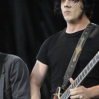 Jack White of the Raconteurs performs at the New American Music Union in Pittsburgh, PA on August 9, 2009.