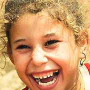 Delighted young girl. Dahab Island, Cairo.