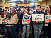 16 NOVEMBER 2019 - WAVERLY, IOWA: People wait for Sen Elizabeth Warren (D-MA) at Wartburg College. Sen. Warren campaigned at Wartburg College in Waverly Saturday afternoon. She is running to be the Democratic candidate for the US Presidency in the 2020 election. Iowa hosts the first selection event of the presidential election season. The Iowa caucuses are February 3, 2020.          PHOTO BY JACK KURTZ