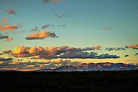 California landscape at sunset