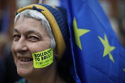 © Licensed to London News Pictures . 01/10/2017. Manchester, UK. Thousands attend an anti Brexit pro EU demonstration at All Saints Park in Manchester during the first day of the Conservative Party Conference at the Manchester Central Convention Centre . Photo credit: Joel Goodman/LNP