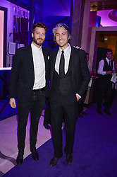 Left to right, RICK EDWARDS and GEORGE LAMB at a party to celebrate 25 years of John Frieda held at Claridge's, Brook Street, London on 29th October 2013.