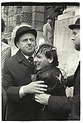 Procters dealing with a student celebrating the end of  Finals, Oxford High st. 1981