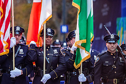 02-11-2018 USA: NYC Marathon We Run 2 Change Diabetes day 1, New York<br /> The day for the opening ceremony / NYPD police