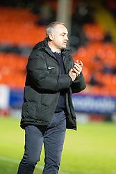 Dundee United's manager Ray McKinnon. Dundee United 3 v 0 Raith Rovers, Scottish Championship game played 4/2/2017 at Dundee United's stadium Tannadice Park.