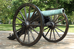 July 2007: Civil War Canon.  Attractions near Chattanooga Tennessee. Point Park, National Park Service - Lookout Mountain, TN.