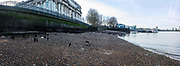 Thames foreshorelooking upstream from the Royal Naval College, Greenwich, London