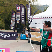 Pedro ALCALA (MEX) competes in Archery World Cup Final in Istanbul, Turkey, Sunday, September 25, 2011. Photo by TURKPIX
