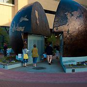 Earth split, WW2 memorial in Savannah, GA