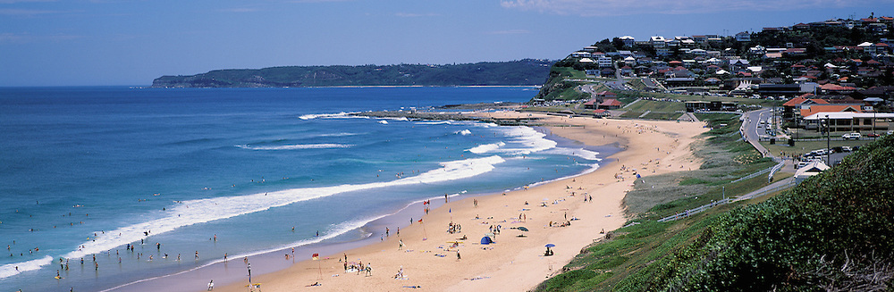View to Merewether Beaxh from Dixon Park, Newcastle NSW Australia
