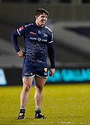 Sale Sharks flanker Tom Curry during the Gallagher Premiership match Sale Sharks -V- Worcester Warriors at The AJ Bell Stadium, Greater Manchester,England United Kingdom, Friday, January 08, 2021. (Steve Flynn/Image of Sport)