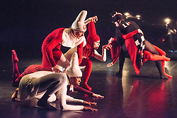 © Licensed to London News Pictures. 14/05/2013. Rambert Dance Company presents new work choreographed by company dancers, at the Queen Elizabeth Hall, London. Picture shows Woman and her Riding Hood, choreographed by Kiril Burlov. Photo credit: Tony Nandi/LNP.