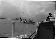 08/03/1964<br /> 03/08/1964<br /> 08 March 1964<br /> Views at the port of Dublin. Image shows the Dun Laoghaire Lifeboat on a rare incursion into the Port of Dublin.