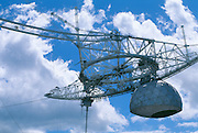This 900 ton platform is suspended above the dish at Arecibo Observatory. The plaform houses the <br /> Azimuth Arm, linear antennas and the Gregorian Dome.