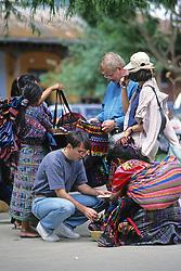 People In Antigua Market
