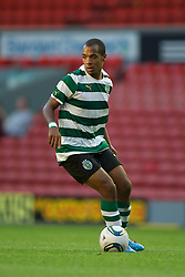 LIVERPOOL, ENGLAND - Wednesday, August 17, 2011: Sporting Clube de Portugal's captain Joao Eduardo in action against Liverpool during the first NextGen Series Group 2 match at Anfield. (Pic by David Rawcliffe/Propaganda)