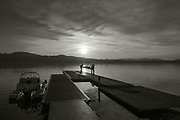 Varese. Lombardia. ITALY. General View. Varese Rowing Club. [Canottieri Varese] Province of Varese.  Sunset <br /> <br /> Monday  02/01/2017<br /> <br /> [Mandatory Credit; Peter Spurrier/Intersport-images]<br /> <br /> <br /> LEICA CAMERA AG - LEICA Q (Typ 116) - 1/4000 - f4 , Atmospheric, mist, fog, Sunrise, Sunset, Blue Hour,