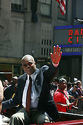 Rod Carew at the Major League Baseball All-Stars and 49 Hall of Famers ride up Sixth Avenue in All Star-Game Red Carpet Parade Presented by Chevy on July 15, 2008