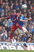 Credit: Back Page Images. Birmingham City v Crystal Palace, FA Premiership, 30/10/2004. Wayne Routledge (Crystal Palace) Damien Johnson (Birmingham City)