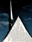 Abstract picture of church roof in Solothurn