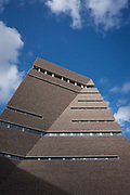 The Switch House, Tate Moderns new pyramid extension on Londons Southbank, on 9th October 2016, in London, England.