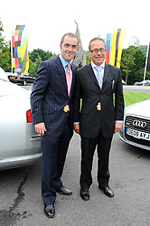 Left to right, JIMMY NESBITT and JON ZAMMETT at the 3rd day of the 2008 Glorious Goodwood racing festival at Goodwood Racecourse, West Sussex on 31st July 2008.<br /> <br /> NON EXCLUSIVE - WORLD RIGHTS