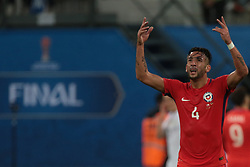 July 2, 2017 - Saint Petersburg, Russia - Mauricio Isla of the Chile national football team reacts during the 2017 FIFA Confederations Cup final match between Chile and Germany at Saint Petersburg Stadium on July 02, 2017 in St. Petersburg, Russia. (Credit Image: © Igor Russak/NurPhoto via ZUMA Press)