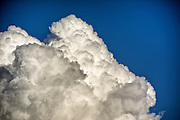 Close up of Cumulus mediocris clouds