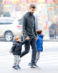 EXCLUSIVE: Gerard Piqué was spotted around Central Park while out and about with his kids in NYC. 26 Dec 2017 Pictured: Gerard Piqué, Milan Piqué Mebarak and Sasha Piqué Mebarak. Photo credit: ZapatA/MEGA TheMegaAgency.com +1 888 505 6342