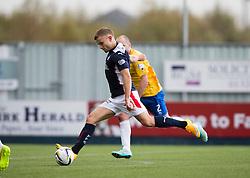 Falkirk's Alex Cooper scoring their third goal.<br /> Falkirk 6 v 0 Cowdenbeath, Scottish Championship game played at The Falkirk Stadium, 25/10/2014.
