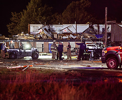 May 26, 2019: El Reno, Oklahoma, U.S.: Severe weather in Tornado Alley on Saturday night made for a terrifying Memorial Day weekend. A brief but violent EF3 tornado tore a two-mile path through the outskirts of an Oklahoma City suburb, demolishing much of the American Budget Value Inn motel and two of its neighbors, the Skyview mobile-home park and a car dealership. By Sunday afternoon, local officials said there had been two fatalities. (Credit Image: © Brett Conner/ZUMA Wire)