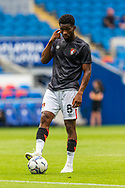 Bournemouth midfielder Jefferson Lerma (8) during the pre-match warm-up before the EFL Sky Bet Championship match between Cardiff City and Bournemouth at the Cardiff City Stadium, Cardiff, Wales on 18 September 2021.