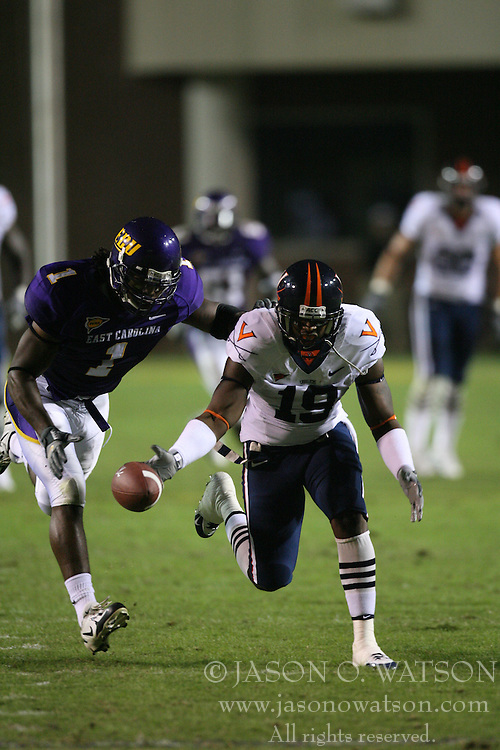 Virginia wide receiver Emmanuel Byers (19)....The Virginia Cavaliers fell to the Eastern Carolina Pirates 31-21 on October 7, 2006 in Greenville, NC.
