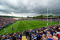 A general view of the Recreation Ground prior to the match - Mandatory byline: Patrick Khachfe/JMP - 07966 386802 - 08/09/2018 - RUGBY UNION - The Recreation Ground - Bath, England - Bath Rugby v Gloucester Rugby - Gallagher Premiership Rugby