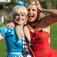 REPRO FREE<br /> 'Alice' Karen Gibson and 'The Queen of Hearts' Natacha Farley pictured at the 43nd Kinsale Gourmet Festival Mad Hatters Taste of Kinsale.<br /> Picture. John Allen