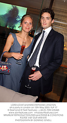 LORD LOVAT and MISS STEPHANIE LANGTON at a party in London on 15th May 2003.	PJP 17