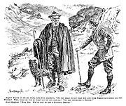 "English tourist (in the far north, miles from anywhere). ""Do you mean to say that you and your family live here all the winter? Why, what do you do when any of you are ill? You can never get a doctor!"" Scotch shepherd. ""Nae, sir. We've just to dee a natural death!"""